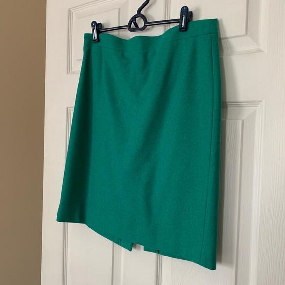 J. Crew Dresses & Skirts - JCrew Wool Green Pencil Skirt